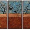 """Vestiges II"" - Triptych 12 x 30-inch panels"