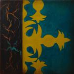 """Marigny"" - Triptych Panel 1  -  12 x 12 inches"