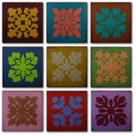 """Zydeco"" - Homage to the Quilt 16 x 16-inch Panels"